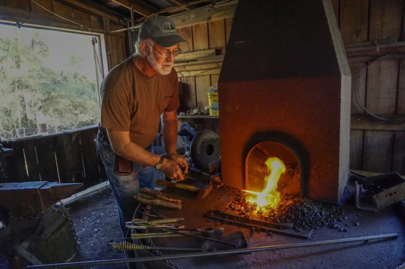 John Lacefield blacksmithing