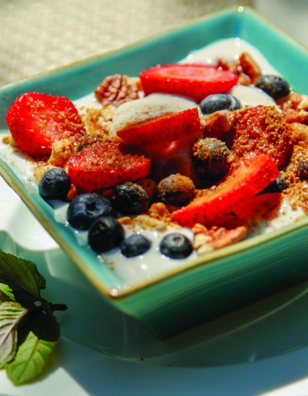 Strawberry Breakfast Bowl With Cashew Cream Yogurt