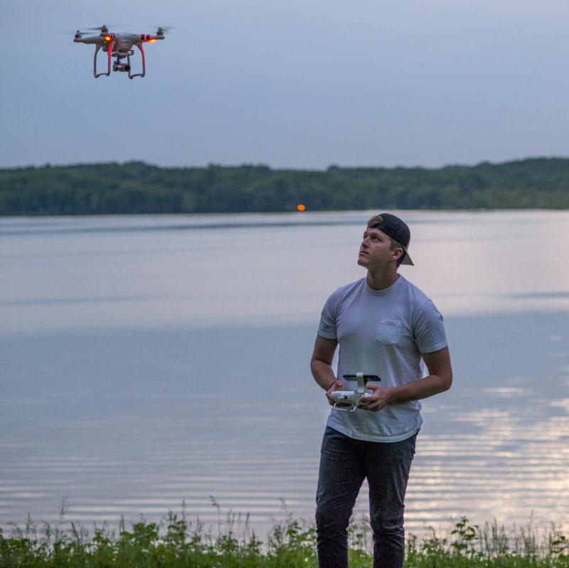 Tucker LaBelle flies his drone